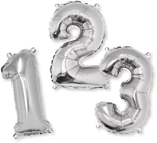 Folie ballonnen cijfers   40 cm