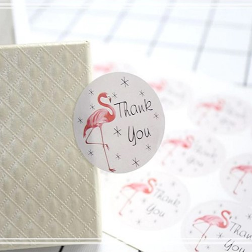 12 Stickers Labels Thank You handmade with love round 12 Stickers Labels Thank