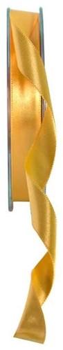 Dubbelsatijn 15mm x 20m Light Gold Oker Double Faced Satin Ribbon Dubbelsatijn