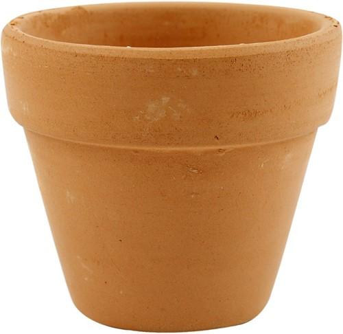 Terracotta Bloempot, +/- d7 cm, h6, 5 cm, 24stuks Terracotta potten