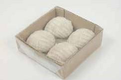 Chongu Pop schelpen bruin, 4 stuks