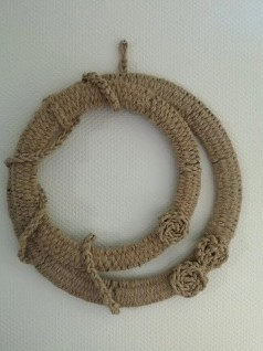 Pakket: DIY Dubbele krans met metalen ringen en jutetouw
