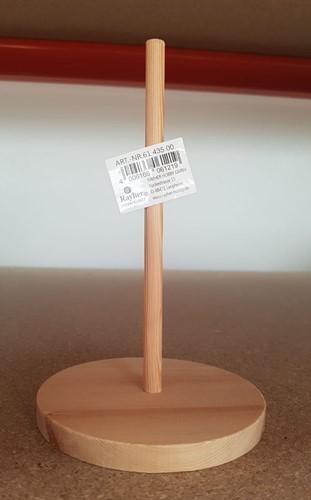 Houten staander voor styropor-torso, klein, hoogte 16 cm standaard