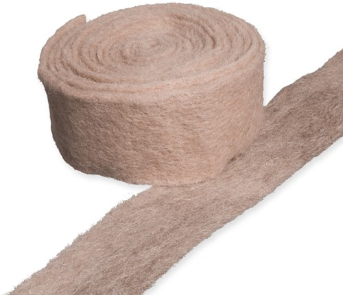 Wolband 7 cm. Rol 4 meter - 79 naturel Wolband 7 cm.
