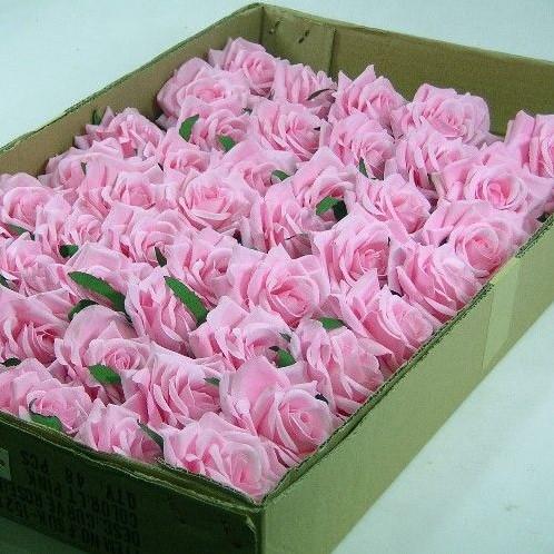 CURVE ROSE CAD Roze DOOS48 st Flowerwall bruidsboeket