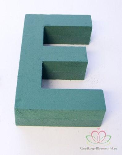 Letter E van Steekschuim 30 x 20 cm