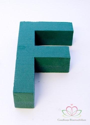 Letter F van Steekschuim 30 x 20 cm