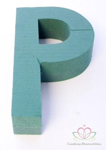 Letter P van Steekschuim 30 x 20 cm