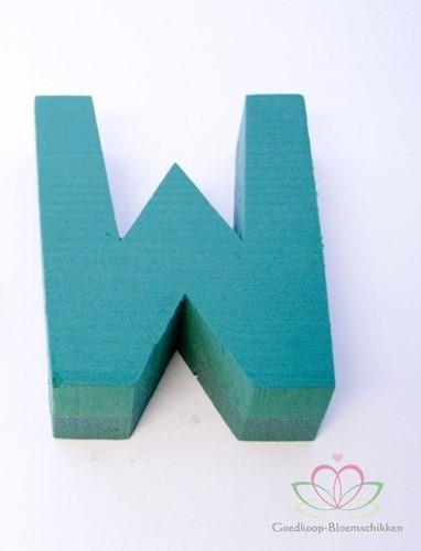 Letter W van Steekschuim 30 x 20 cm