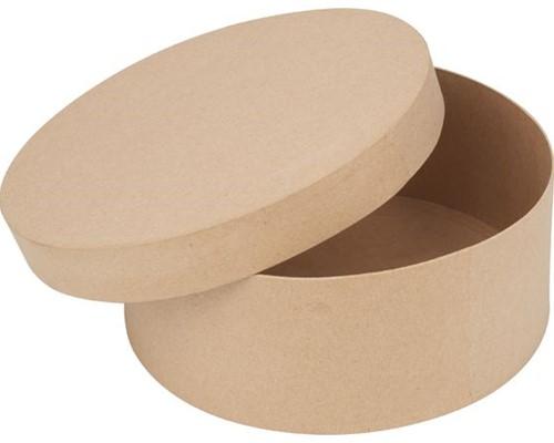 Bloemendoos ronde doos, Ø 19 cm Papiermache Bloemendozen