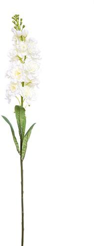 Matthiola zijde 83cm. STOCK FLOWER SPRAY IVORY/st Matthiola incana