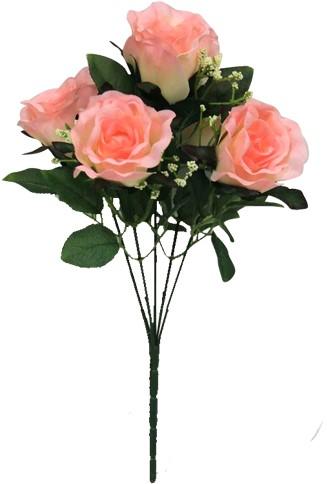 Roze. NBundel Sweety Rose +Gips 5 knoppen 31cm. flowerwall vuller