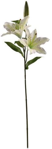 Lelie 66 cm. cremewit / tak Witte Lelie