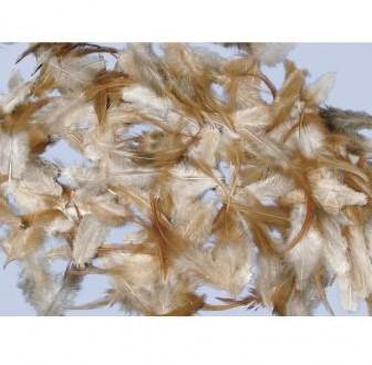 Actie veertjes Mengeling van veren, Brunett, 6-15 cm, ZB-zak actieveertjes