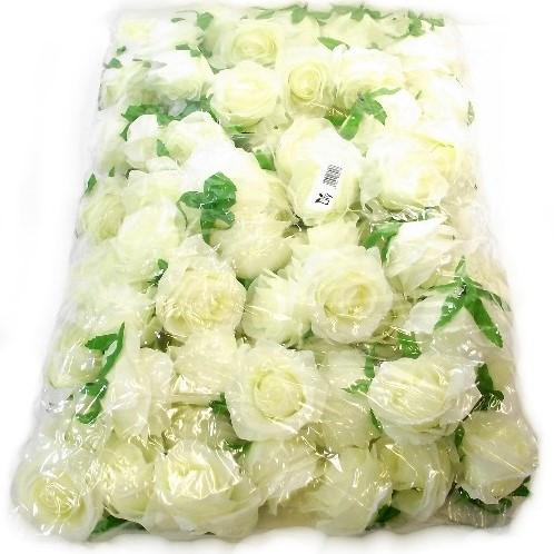 Zijde Rozen Rozenknop 8-9 cm. Ivory Pak 100 Goedkoopje ROSE FLOWER HEAD