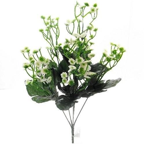 Boeket 38cm QUEEN ANNES LACE BUSH WHITE/GREEN Groene planten