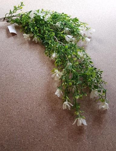 Hanger vuller 60cm PLASTIC TRAILING FLOWERING MINI ORCHID BUSH CREAM Groene planten