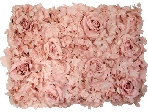 Flowerwall Flower Wall 40*60cm. 3D Antique Oudroze Flowerwall