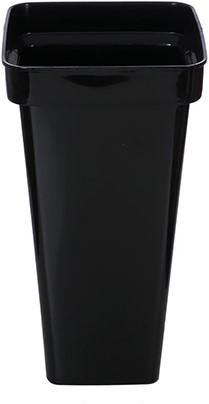 Vaas bloemenvaas vierkant 41 cm. zwart Vaas bloemenvaas