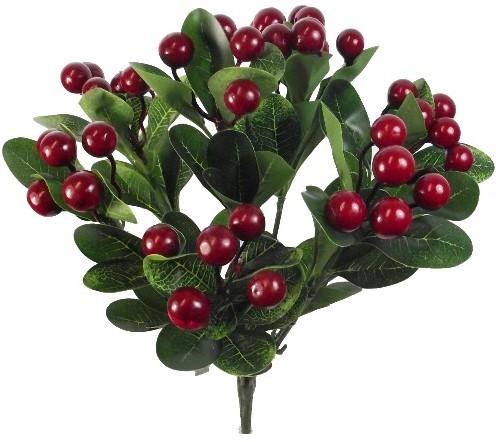 Besjesboeket Dark Red 38cm. Besjesboeket cluster bush