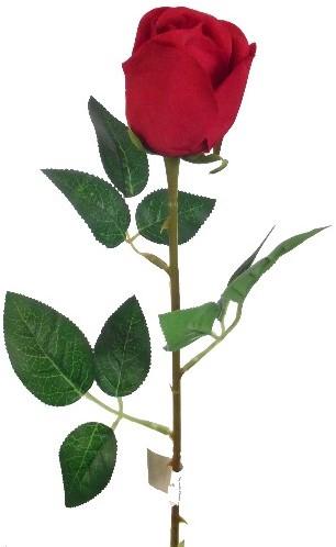Rode roos Valentijnroos Zijde korter /stuk Valentijnroos met blad