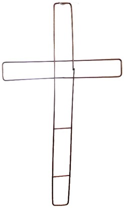 Metalenframe KRUIS 15 INCH   Metalen frame, koperkleur