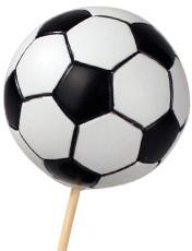 Bijsteker Voetbal 6 cm. Per ZAK 24 STUKS! Bijsteker Voetbal