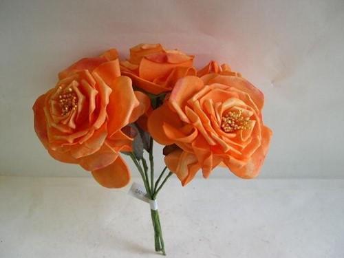 Wild Rose 10 cm. ORANJE bundel op=op Wild Rose