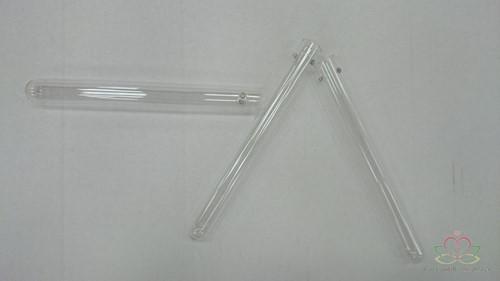 Reageerbuisjes Test tube glass 15cm. d. 1, 5cm. 2 GAATJES set 12 Reageerbuisjes 1, 5cm.*15cm.
