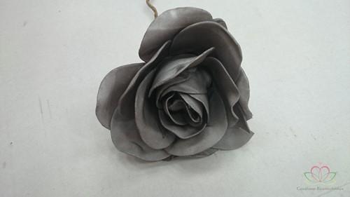 foam Rose Chic Grey 12cm. Per stuk OP=OP foamroos Lila 1