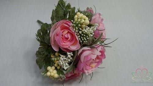 Bruidsmeisjesboeket Ranonkel Zijde frost Roze Bruidsmeisjesboeket-2