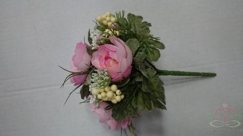 Bruidsmeisjesboeket Ranonkel Zijde frost Roze Bruidsmeisjesboeket-3