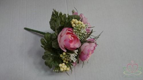 Bruidsmeisjesboeket Ranonkel Zijde frost Roze Bruidsmeisjesboeket