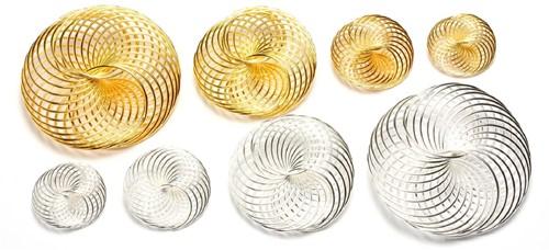 Draad Wielen Cirkels - Zilver 35 mm 1374-21 Draad Wielen Ci