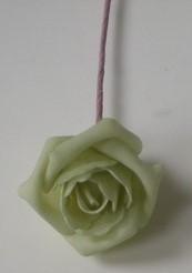 foam Rose Emilia 6cm. Cool Green, MINT Groen DOOS42 Doos 42