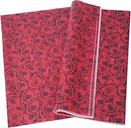 Bloemenpapier InpakPAPIER Rozen Pak +/- 50st cadeaupapier