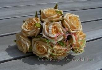foam roos Elegant 5 cm. Zandgeel/stuk foam roos Eleg