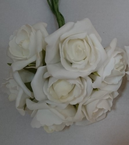 foam roos Emilia Creme 6 cm. bundel 7 new Creme