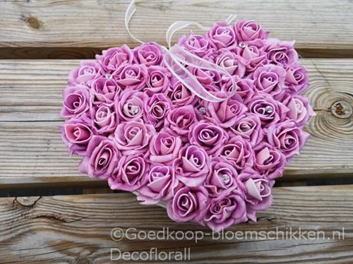 foam rose 4cm. 20pc zak Oudroze Lilaroze - Lightpink/Lilac Mooie kleuren