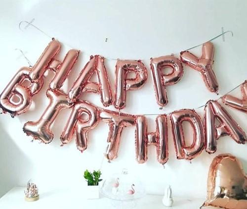 Folieballon Happy Birthday PER Set Zie omschrijving