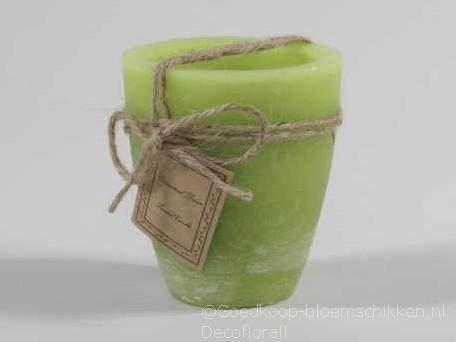Garden Candle Smal 24uur Rustiek Green 80*90mm Tuinkaars