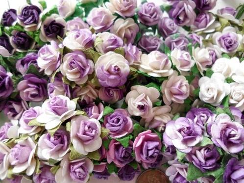Mulberry Roosjes Purple Lilamix 10-15 mm / PAK Mulberry Roosje