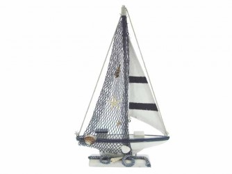 Maritiem Zeilboot 18x30x3. 8cm. Zeilboot
