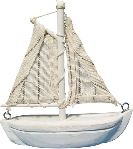 Zeilboot Zeilschip Hout compleet met zeilen 8, 5cm. Zeilboot