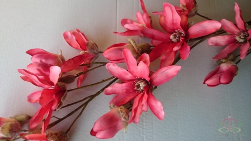 Large Magnolia Spray Coral EXCLUSIEF ZIJDE.  showroommodel