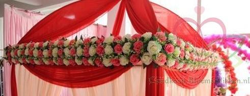 Frame raster voor bloemenboog Arcade 44cm.*12cm. Met bloemen - LimeGroen/Wit O Flower wall Flowerwall