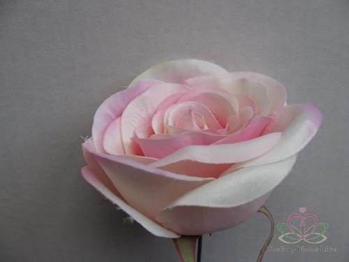 Roos dik Zacht Roze voor Corsage en Boeket op draad ZIJDE Grote roos