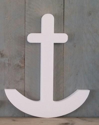 Anker Styropor groot Anker 50 x 3 cm. Workshopitem