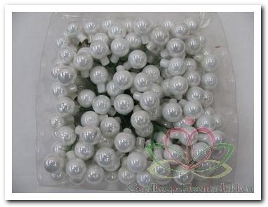 Balletjes op draad 2 cm. Wit opaal doos 144 stuks is Iets los of breuk met Iets los of breuk