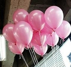 +/- 50 Latex Ballonnen 10 inch dik ook voor Helium Lichtroze Babyshower